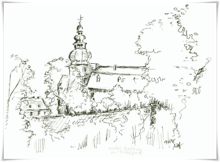 Bild Zeichnung: Schloss Berleburg