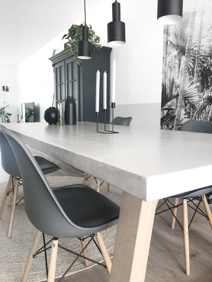Beton cire tafelblad, grijs 40% - FYN. Kant & Klaar - Beton cire Nederland