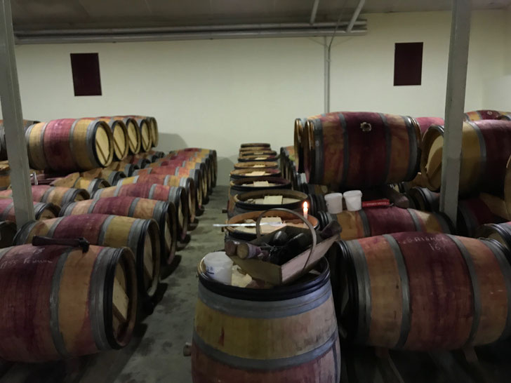 Begin working with La Reserve, Langoa & Leoville Barton - racking and cleaning barrels