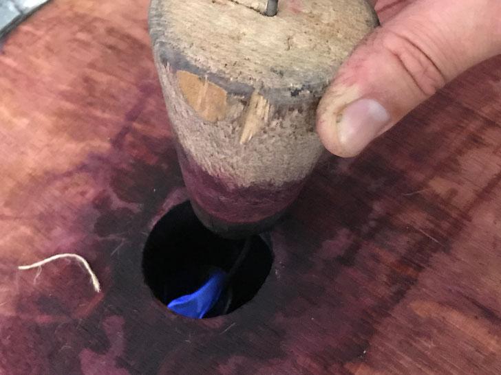 Sulphuring barrels