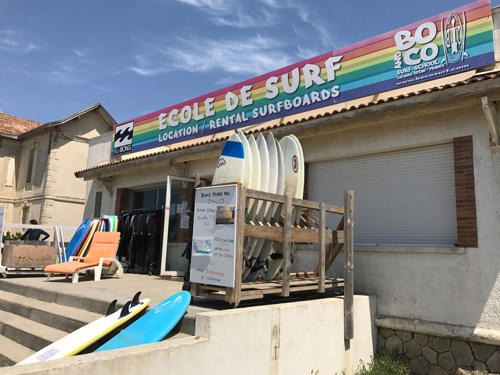 Surfboards for rent, Lacanau Plage