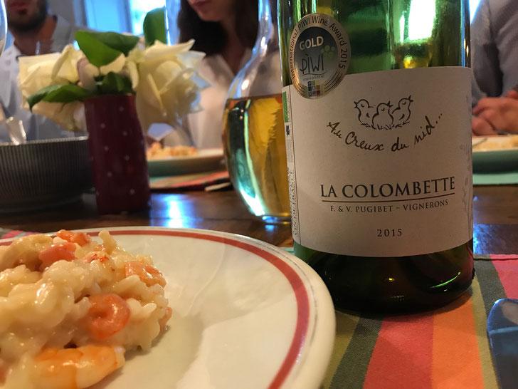 Dinner tasting - La Colombette - unique white wine