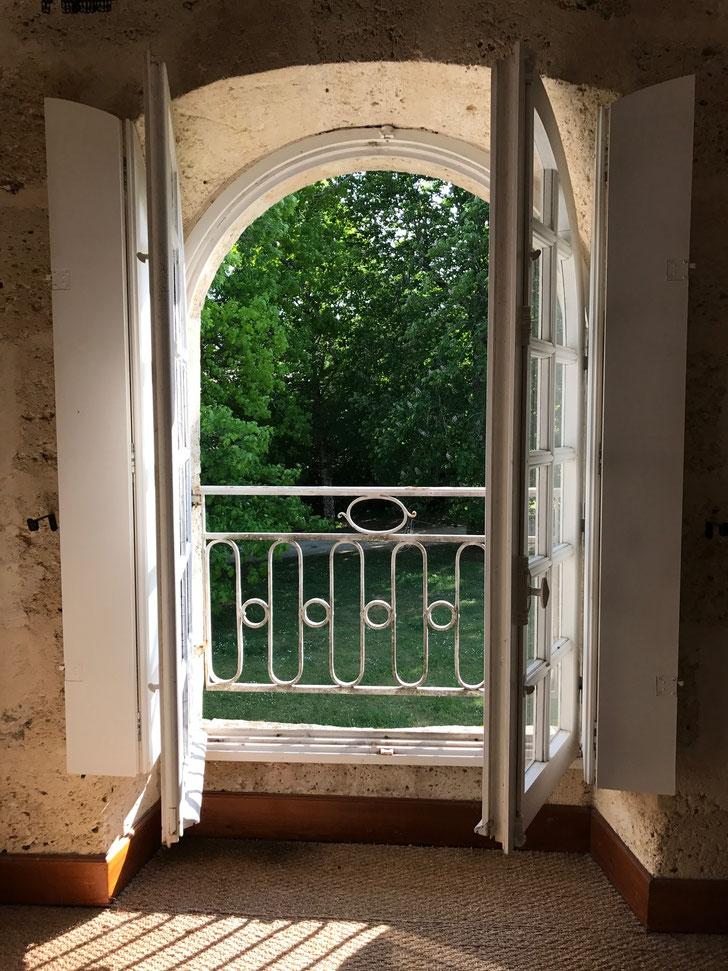 My bedroom window, Chateau Mauvesin