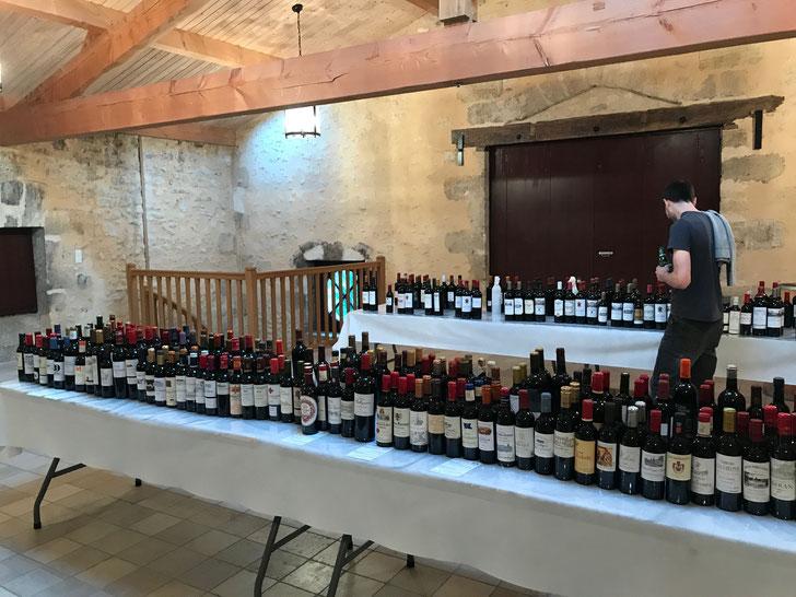 A few wines to taste at Chateau Mauvesin Barton