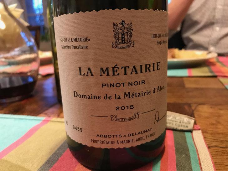 Dinner Tasting - La Metairie Pinot Noir