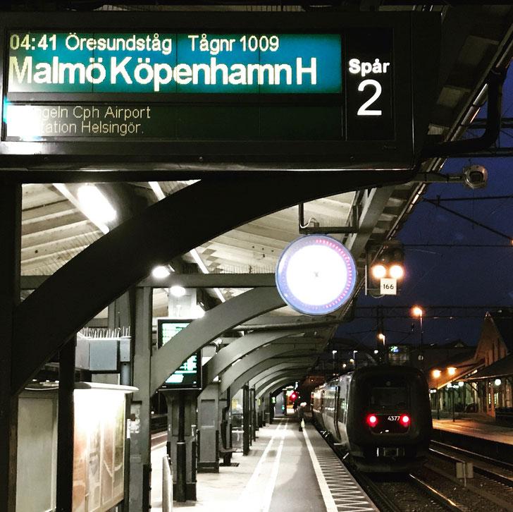 Early morning train to Copenhagen airport