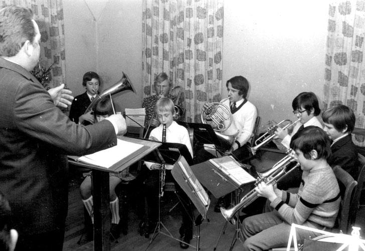 Musikverein Lautern, Jugendkapelle 1973