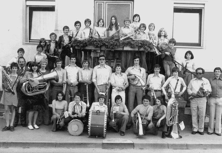 Musikverein Lautern, jugendkapelle 1976