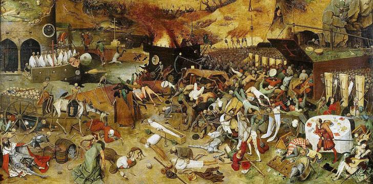""""""" Le Triomphe de la Mort"""" par Pieter Brueghel l'Ancien, 1562"""