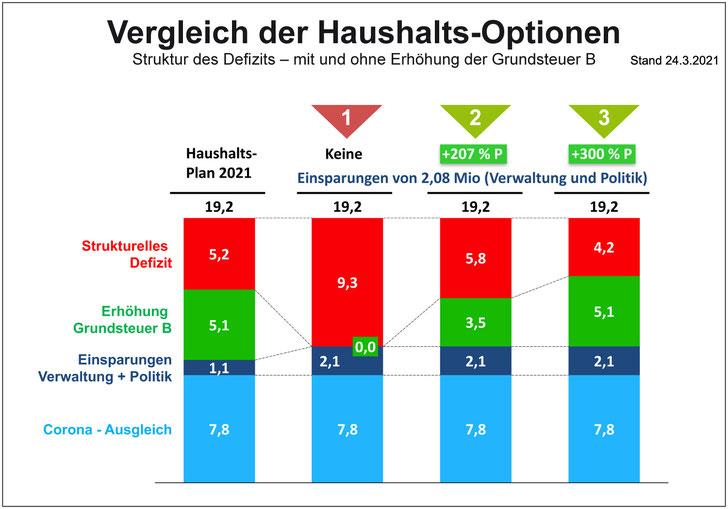 Vergleich Haushaltsoptionen