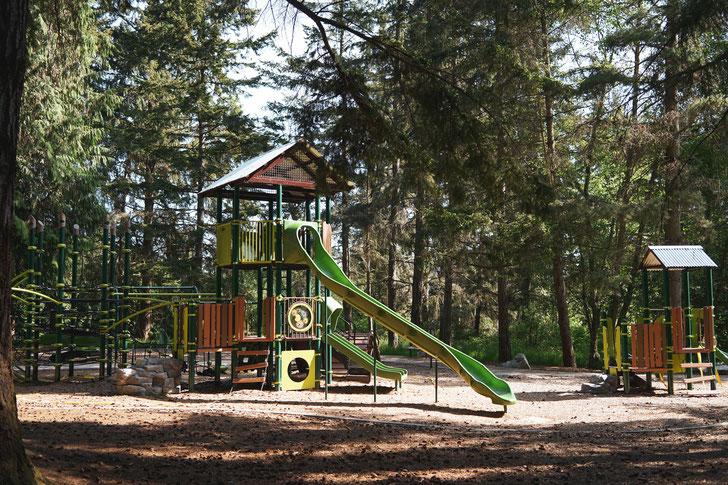 Spielplatz in einem Wald