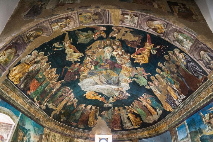San Panfilo a Tornimparte. La Gloria di Dio di Saturnino Gatti, L'Aquila  © foto Paradisi