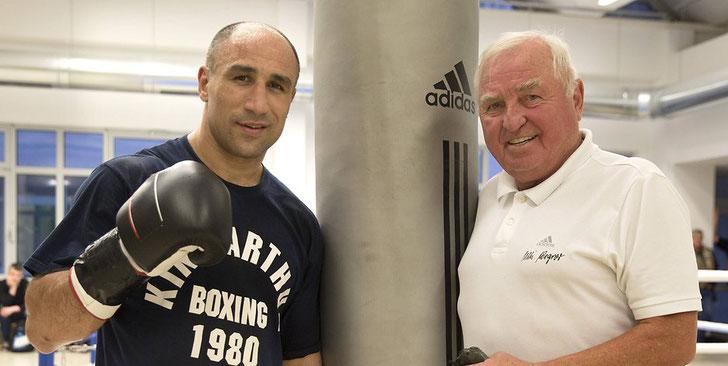 Arthur Abraham und sein Trainer Ulli Wegner