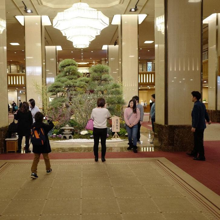 帝国ホテル メインエントランス 正月