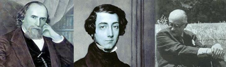 Henri-Frédéric Amiel, Alexis Tocqueville, Nicolás Gómez Dávila