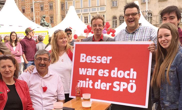 SWV Steiermark bei der 1. Mai-Veranstaltung der SPÖ in Graz