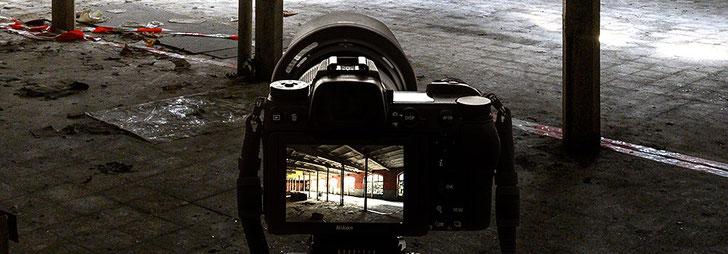 Die NIKON Z7 im Praxistest beim Lost Place Architektur-Fotoshooting. Foto: Dr. Klaus Schörner