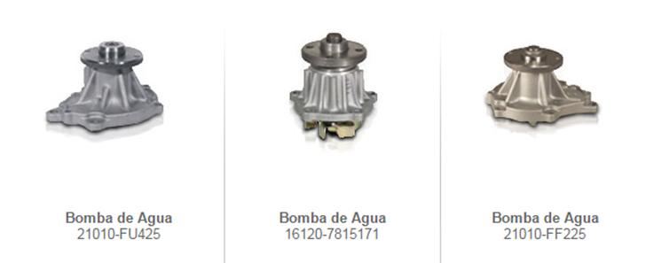 Bombas de agua enfriamiento montacargas mexico