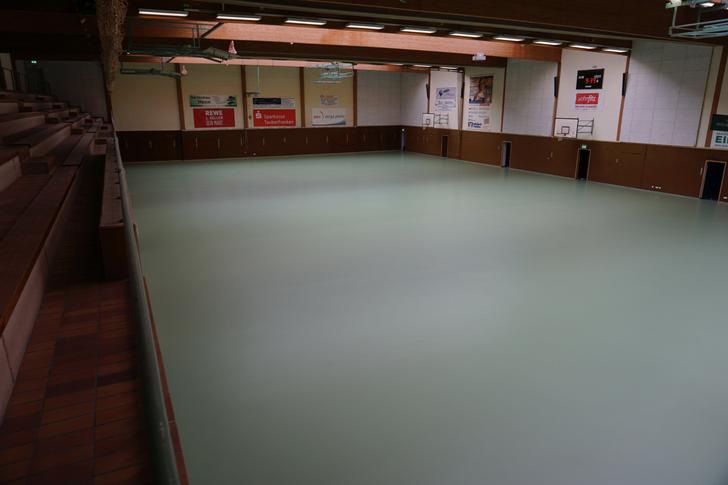 Ungewohnter Anblick in der Walter Hohmann Sporthalle.