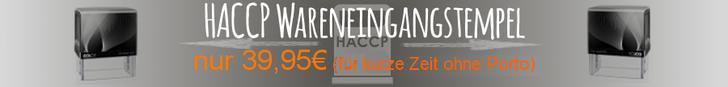 haccp Wareneingangs Stempel