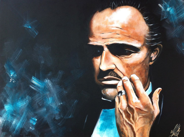 """The Godfather"", 2012, acrylic on canvas, 60x80"