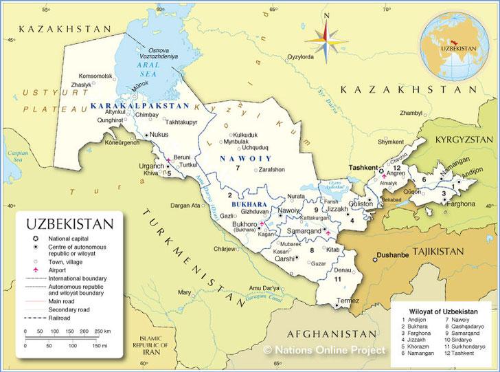 #map turkmenistan