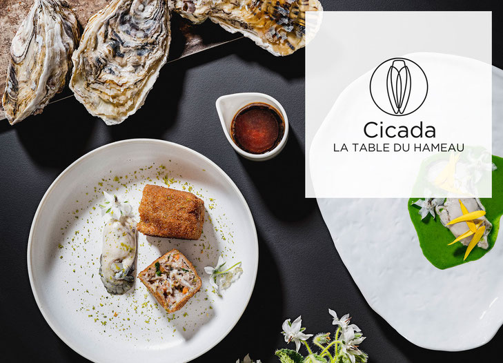 Springtime menu of Stephan Paroche from Cicada, the table of Hameau des Baux