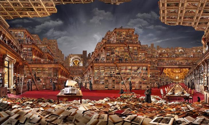 La bibliothèque idéale, Jean-François Rauzier