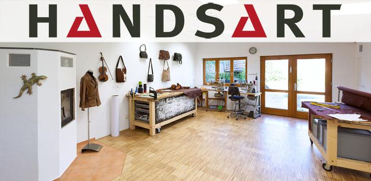 Die Werkstatt von HANDSART Lederdesign