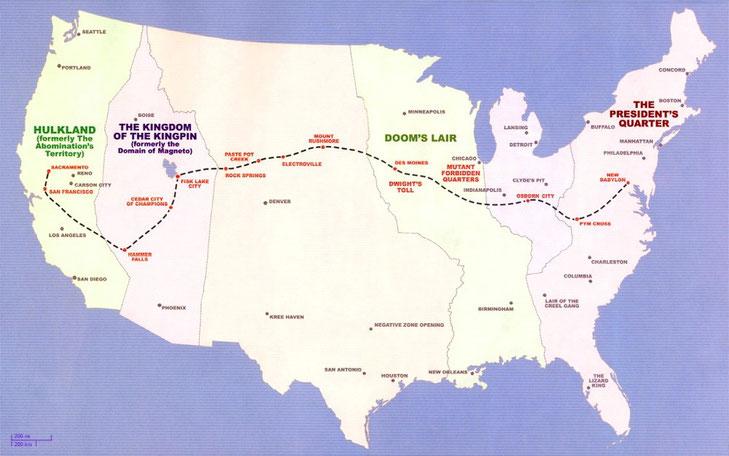 Logans und Hawkeyes Weg durch die einstigen Vereingten Staaten