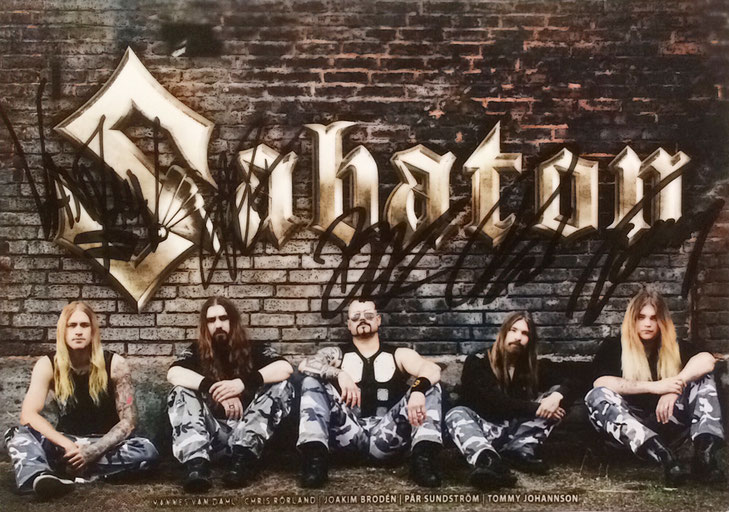 01.09.2017 Autograph Card from Sabaton and 3 Autographs from Jean Claude Killy received