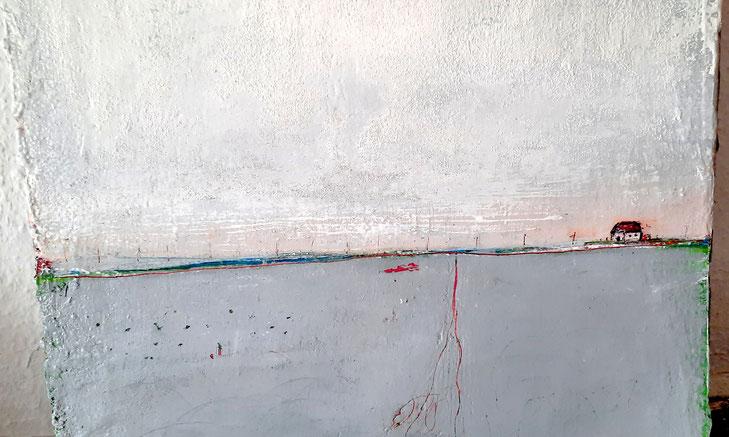 graues kleines Bild 50 x 40 cm