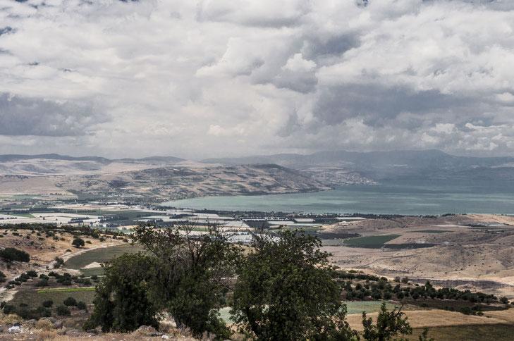Blick auf den See Genezareth