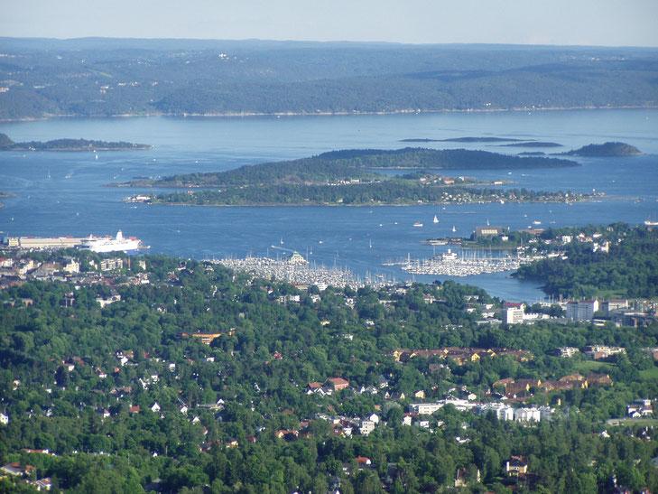 Blick über Oslo vom Holmenkollen ©Pixabay