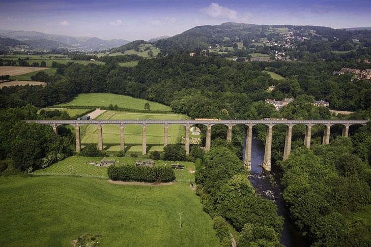 Luftbild des Pontcysyllte Aquädukt