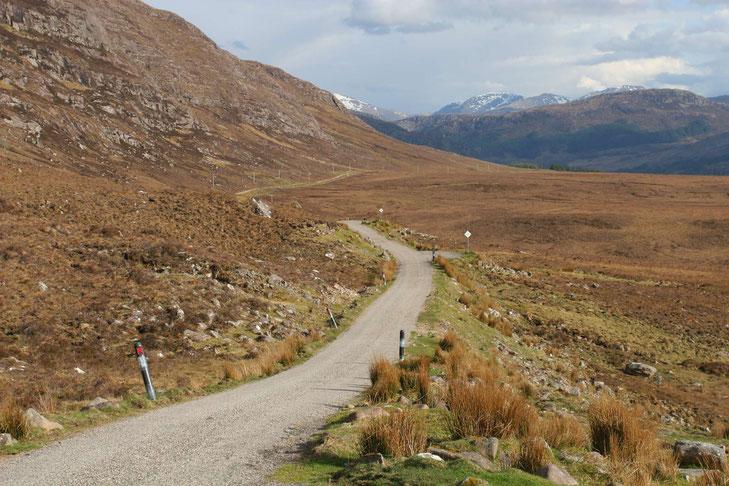 Schottland - einspurige Straße