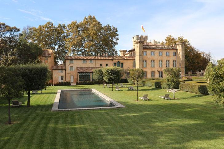 Villa Baulieu vom hinteren Bereich mit Pool