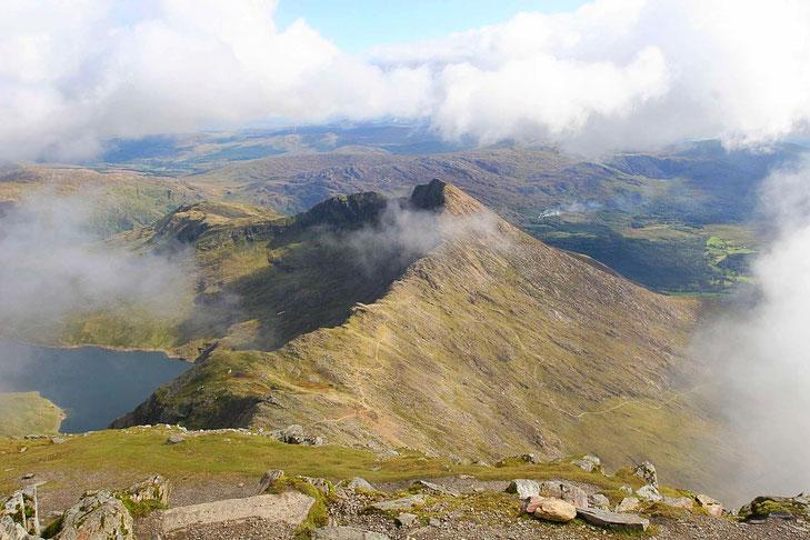 Mount Snowdon - fast schon in den Wolken