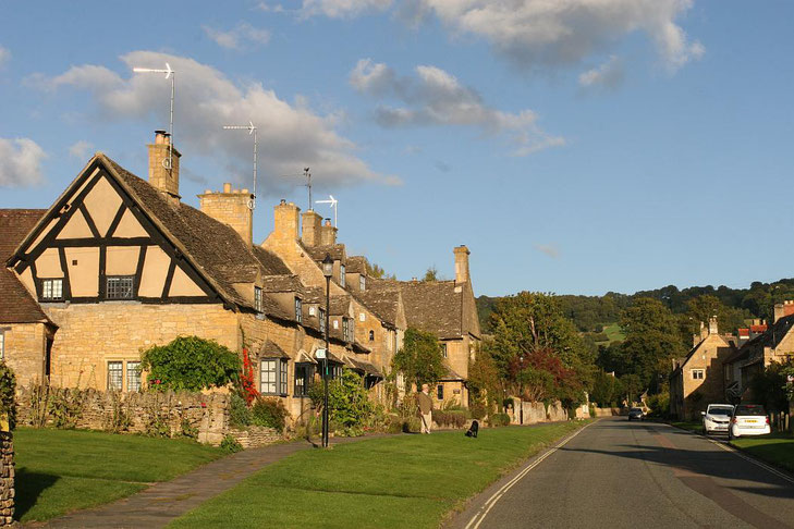 Straßenzug in Broadway, Cotswolds