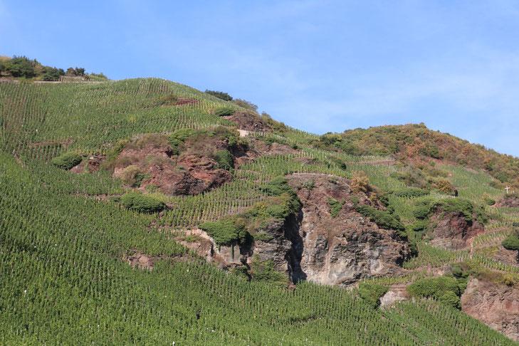 Steile Weinberge an der Mosel