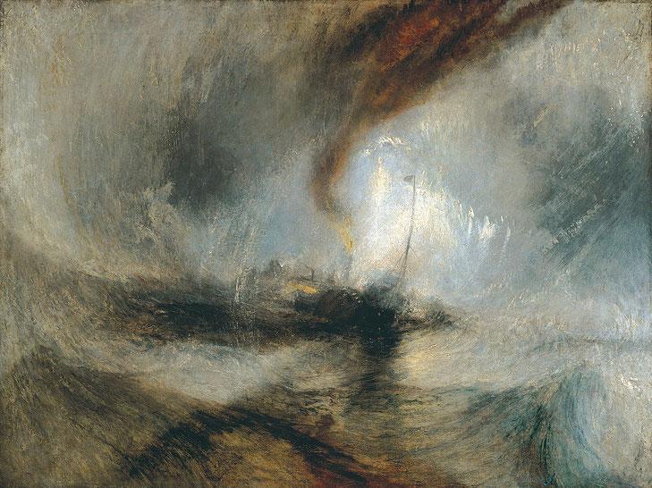 """W. Turner, """"Tempesta di neve"""" (1842)"""