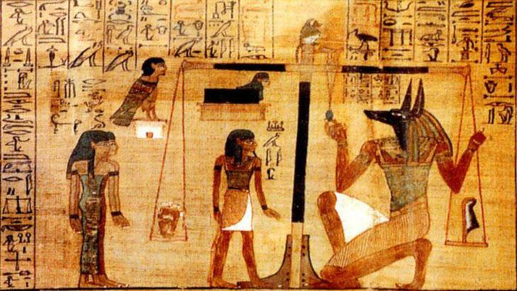 Psicostasia. Libro dei Morti di Ani, XIII secolo a.C.