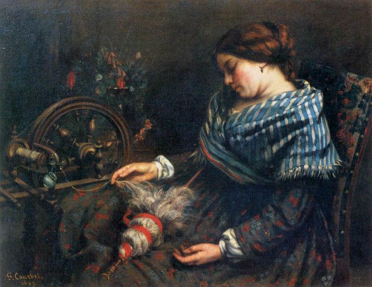 "G. Courbet, ""La filatrice"" (1853)"