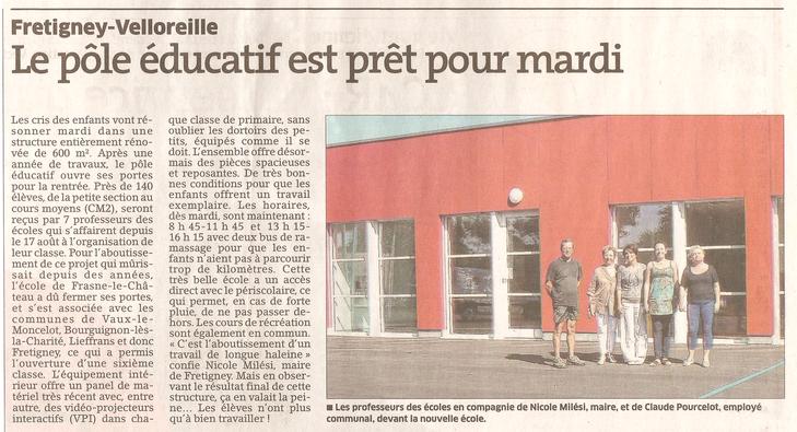 L'Est Républicain, 29/08/2015