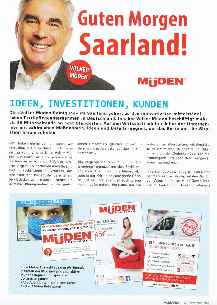 Versandreinigung-mueden.de, Leistungen, Presseberichte, Handwerkskammer Guten Morgen Saarland