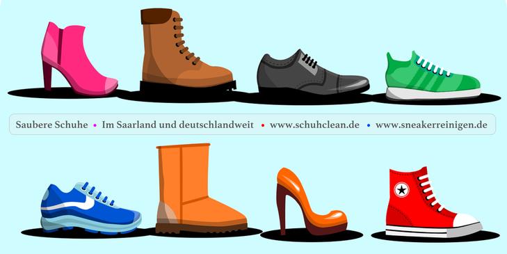 www.mueden.de, Sneakerreinigen, Bild von vielen Schuhen, www.SneakerReinigen.de, www.SchuhClean.de