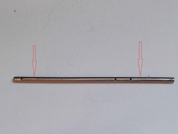 Présentation des deux points de l'axe entre lesquels il ne doit y avoir aucune déformation