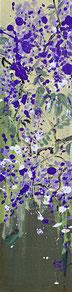 紫藤1 WISTERIA 1 100X25CM 布面油画 OIL ON CANVAS