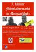 """Plakat von """"7. kleiner Mittelaltermarkt in Norgaardholz"""""""