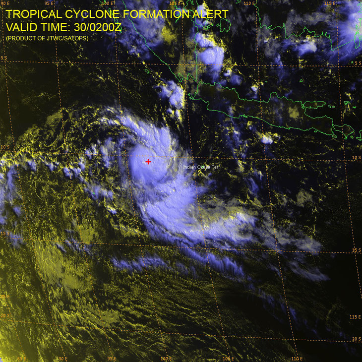 Satellite image of Tropical Cyclone Greg. from JTWC
